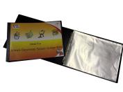 Protectafile A3 deluxe landscape 4-D ring binder folder file art black presentation portfolio + 10 sleeves