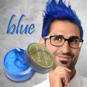 Hair Colour Wax ,QHJ Colour Matte Hair Wax Hair Ash Dye Grey Mud Temporary 80g for Men Women Grandma