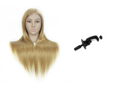 70cm Synthetic Hair Professional Styling Mannequin Head For Hairdresser Wig Hairdressing Dummy Doll Head Training Heads