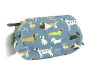 Walkies Blue Oilcloth Ladies Cosmetic Bag from Shruti