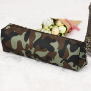 CHshe Cosmetic Zip Camouflage Printed Canvas Multifunctional Pencil Case Make-up Storage Bag