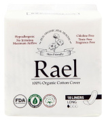 Rael 100% Organic Cotton Long Panty Liners - Unscented PantIliners - Natural Daily Pantyliners