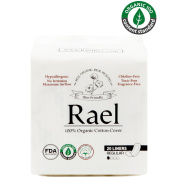 Rael 100% Organic Cotton Regular Panty Liners - Unscented PantIliners - Natural Daily Pantyliners