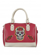 Banned Dia De Muertos Women's Handbag Red 32x28x15cm