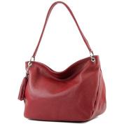 modamoda de - Made in Italy Women's Cross-Body Bag Red Brown