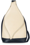 LiaTalia Cute Little Real Italian Leather Convertible Strap Backpack Shoulder Bag with a Protective Storage Bag - Kim