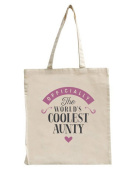 Aunty Birthday or Christmas Gift Bag, Tote, Shopping Bag, Birthday Gift, Present, Gifts For Women, Worlds Coolest Aunty