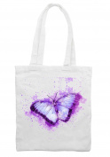 Butterfly Drawing Shoulder Shopping Tote Bag