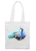 Peacock Bird Drawing Shoulder Shopping Tote Bag