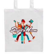 SUPER MUM Shopping/Tote/Bag For Life/Shoulder Bag By Mayzie Designs®