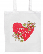 MUM/FLOWERS/HEART Shopping/Tote/Bag For Life/Shoulder Bag By Mayzie Designs®