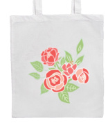 Flowers/Roses Shopping/Tote/Bag For Life/Shoulder Bag By Mayzie Designs®