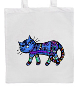 Blue CAT Shopping/Tote/Bag For Life/Shoulder Bag By Mayzie Designs®