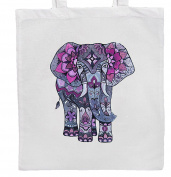 Purple/Grey ELEPHANT Shopping/Tote/Bag For Life/Shoulder Bag By Mayzie Designs®