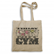 Today Gin Not Gym Funny Tote bag r959r