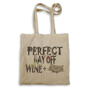 Perfect Day Off Wine Cat Tote bag r902r