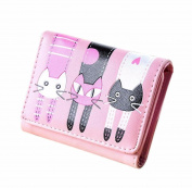 Malloom 2017 New Style Women Cat Pattern Coin Purse Short Wallet Card Holders Handbag