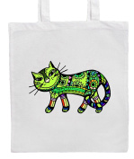 Green CAT Shopping/Tote/Bag For Life/Shoulder Bag By Mayzie Designs®