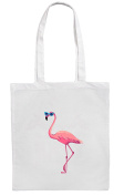 Pink FLAMINGO/SUNGLASSES Shopping/Tote/Bag For Life/Shoulder Bag By Mayzie Designs®