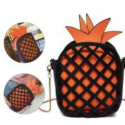 Sunroyal Girl Leather Cross Body Bag Pineapple Shaped Creative Single Shoulder Bag Fashion Bag
