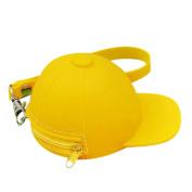 squarex Cool Baseball Cap Shape Silicone Coin Purse Mini Coin Wallets Change Purse Bag