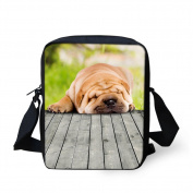 Coloranimal Cool Pet Dog Bulldog Printed Women Small Cross Body Bags