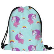 Masrin Unicorn Candy Bag Satchel Rucksack Bundle Pocket Drawstring Storage Bag
