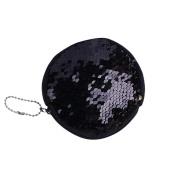 squarex Unisex Girls Fashion Double Colour Sequins Bag Mini Coin Wallet Ladies Purse Pouch
