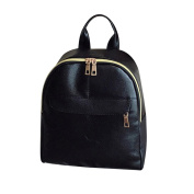 squarex Lovely Women's Fashion Leather Solid School Bag Travel Backpack Bag