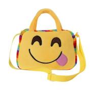 Cute Emoji Emoticon Shoulder Bag Women Child Handbag School Bag Satchel Stylish Rucksack