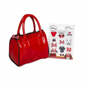 Sambro - Disney Minnie Mouse Handbag with 12 Stickers - Customisable Girl's Barrel Tote Bag