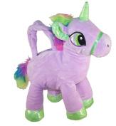 Girls Childrens kids Lilac Purple Plush Unicorn Handbag
