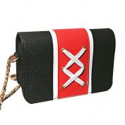 Fashion Crossbody Handbag Lace-up Patchwork SOMESUN Women/Girl Crossbody Shoulder Bags BK
