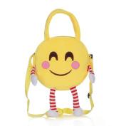 Boys Girls Cute Funny Emoji Shoulder Bags Kids Plush Handbag