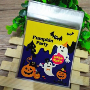 100 pcs Happy Halloween Snack Packet For Kids ,YOYOUG 100 pcs Happy Halloween Candy Bag Snack Packet Children Household Kid Garden Home Decor