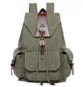 Retro casual canvas backpack