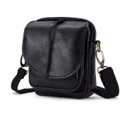 Zhhlaixing Mens Mans Father Adjustable Leather Mini Travel Sports Crossbody Shoulder Bag Messenger Briefcase Christmas Gifts