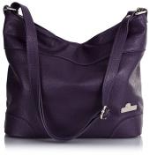 LiaTalia Womens Genuine Italian Leather Medium Hobo Shoulder bag with Protective Dust Bag - Jane
