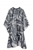 FiveSeasonStuff Black Hairdressing Capes / Aprons / Gowns with Patterns, Haircut Capes, Perfect for Hair Salon, Barber Shop, Home