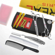 Professional Salon Hairdressing Hair Cutting Combination Set Hairdressing Scissors Tool Kit Colour Random
