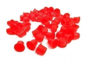 DCTattoo 100 X Red Tattoo Ink Cups Caps Pots Small