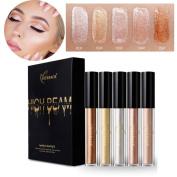 Pearl Shimmer Liquid Highlighter Kit 5Pcs Face Illuminator Face Bronzer