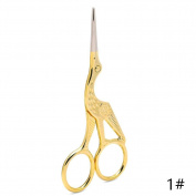 HUUATION Stork Shape Manicure Tools Accessories Cuticle Nail Scissors Eyebrow Facial Hair Grooming Scissors Sewing