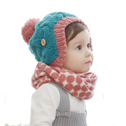 Butterme Winter Unisex Warm Knitted Crochet Neck Warmer Cute Dot Loop Circle Scarves Snood Scarf