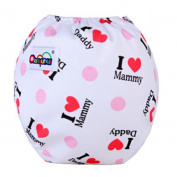 BZLine® Baby Washable Snap Nappy Cartoon Printed Cloth Cotton Nappies Reusable Nappy