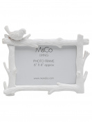 M & Co Home Resin Vintage Bird Branch Photo Frame Cream One Size