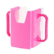 MagiDeal NEW Spill Proof Juice Box Holders Cup Drink Mug Handle Baby Kid 100~365ML - Pink, One Size Fits Most