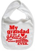 Dirty Fingers, My Grandad is the Greatest, Boy Girl Feeding Bib, White by Dirty Fingers