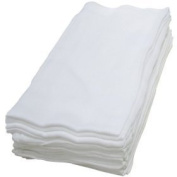 Pack of 3 White 100% Cotton Muslin Squares, 73 x 75cm