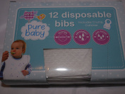 Pure Baby 12 Disposable Bibs with Crumb Catcher